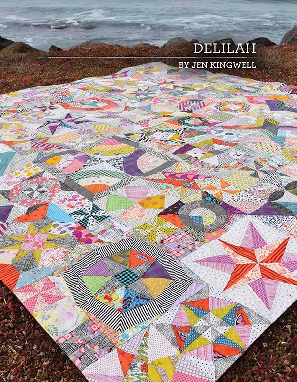 Delilah quilt pattern booklet by Jen Kingwell Designs