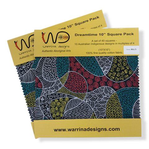 10x10 Multi Dreamtime squares DTPM10 M&S Textiles Australia