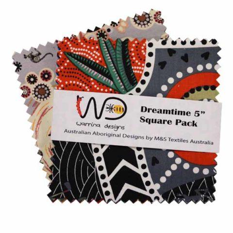 5x5 Multi Dreamtime squares DTPM5 M&S Textiles Australia