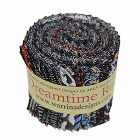 Black Dreamtime Rolls DTRB  M&S Textiles Australia