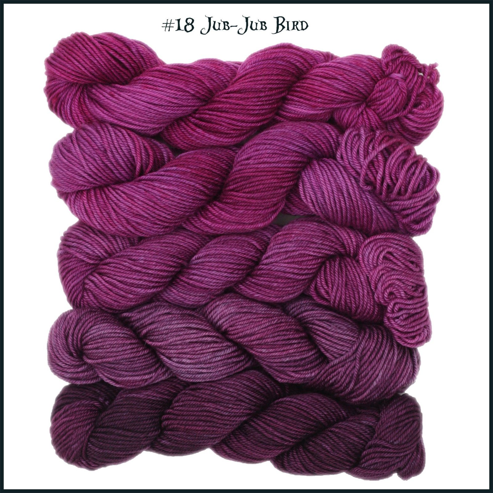Mad Hatter Jub-Jub Bird Down the Rabbit Hole Gradient Mini Skein Pack