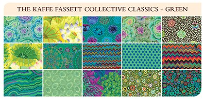 Green 5 Charm Pack Kaffe Fassett Collective