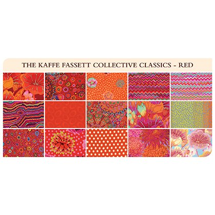 Red 5 Charm Pack Kaffe Fassett Collective