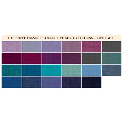 Twilight Shot Cottons 5 Charm Pack (42 pieces) FB6CPGP.TWILI Kaffe Fassett Collective