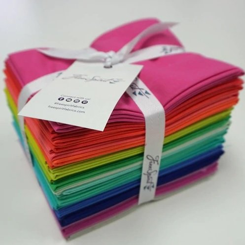 22 FQs Tula Pink Solids by Freespirit Fabrics