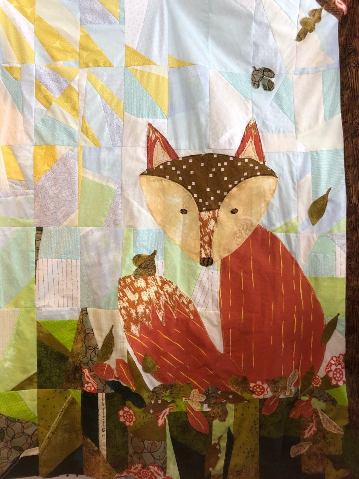 Freida the Fox collage quilt kit