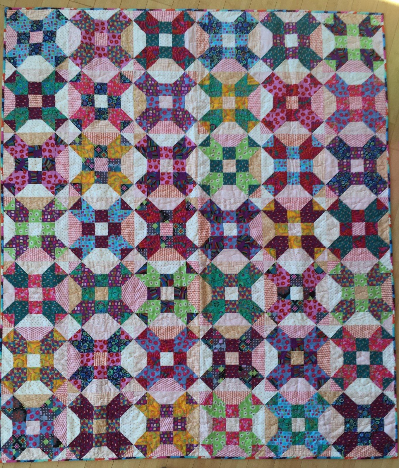 Gardenvale Stars (60x70) -- jewel tones bundle