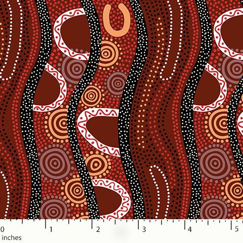 Burgundy Gathering by the River GBRBU M&S Textiles Australia
