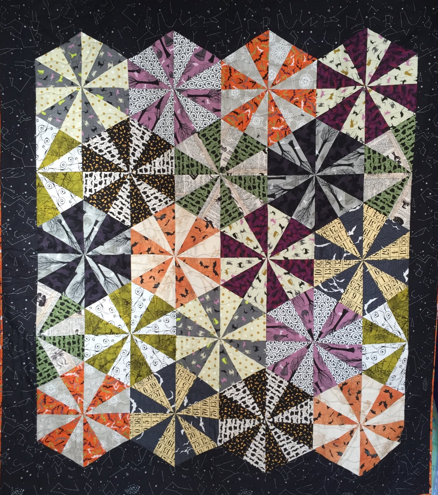 Night Bloom quilt kit (64x80)