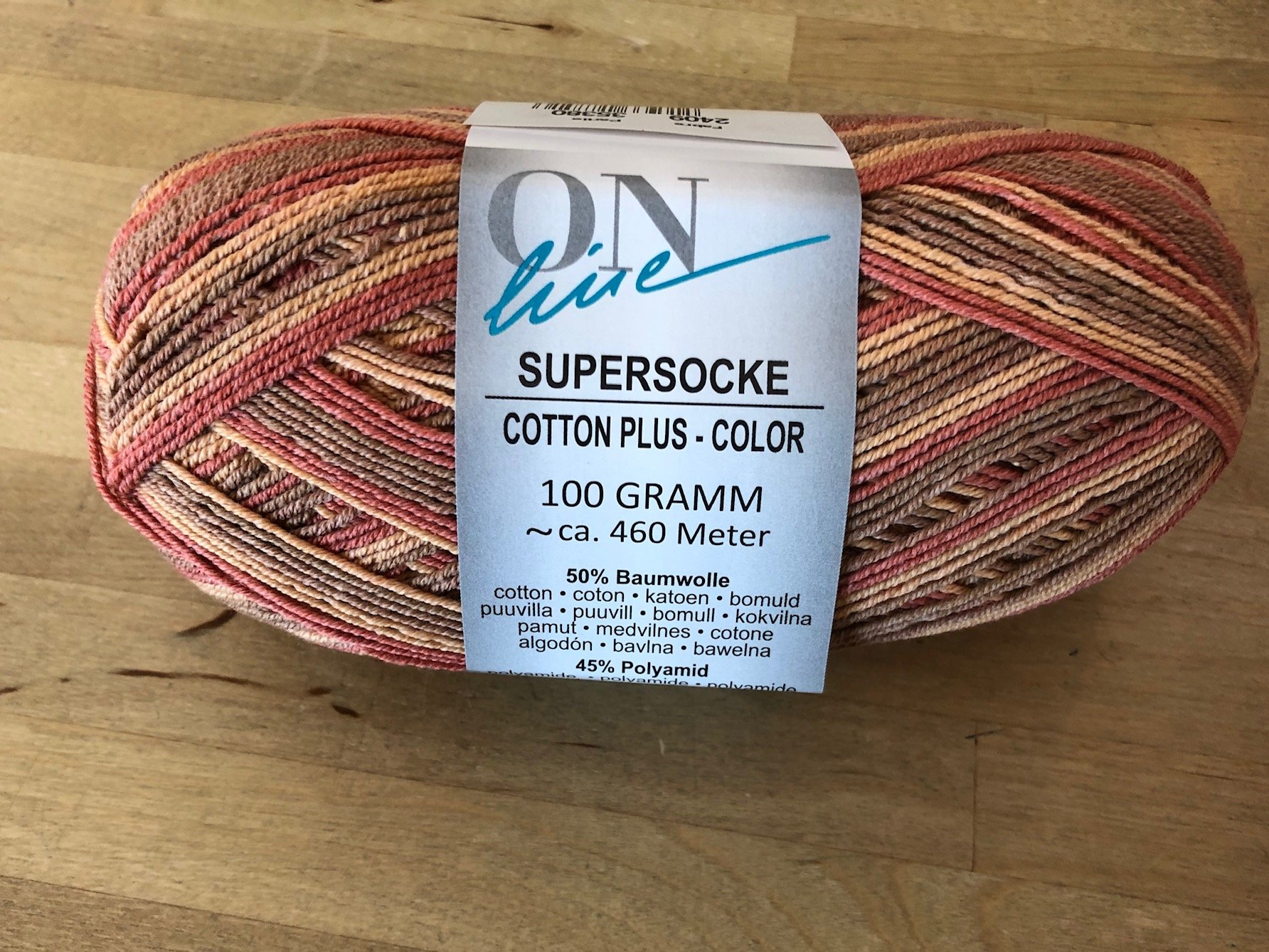 Supersocke 2409 Cotton Plus Color sock yarn