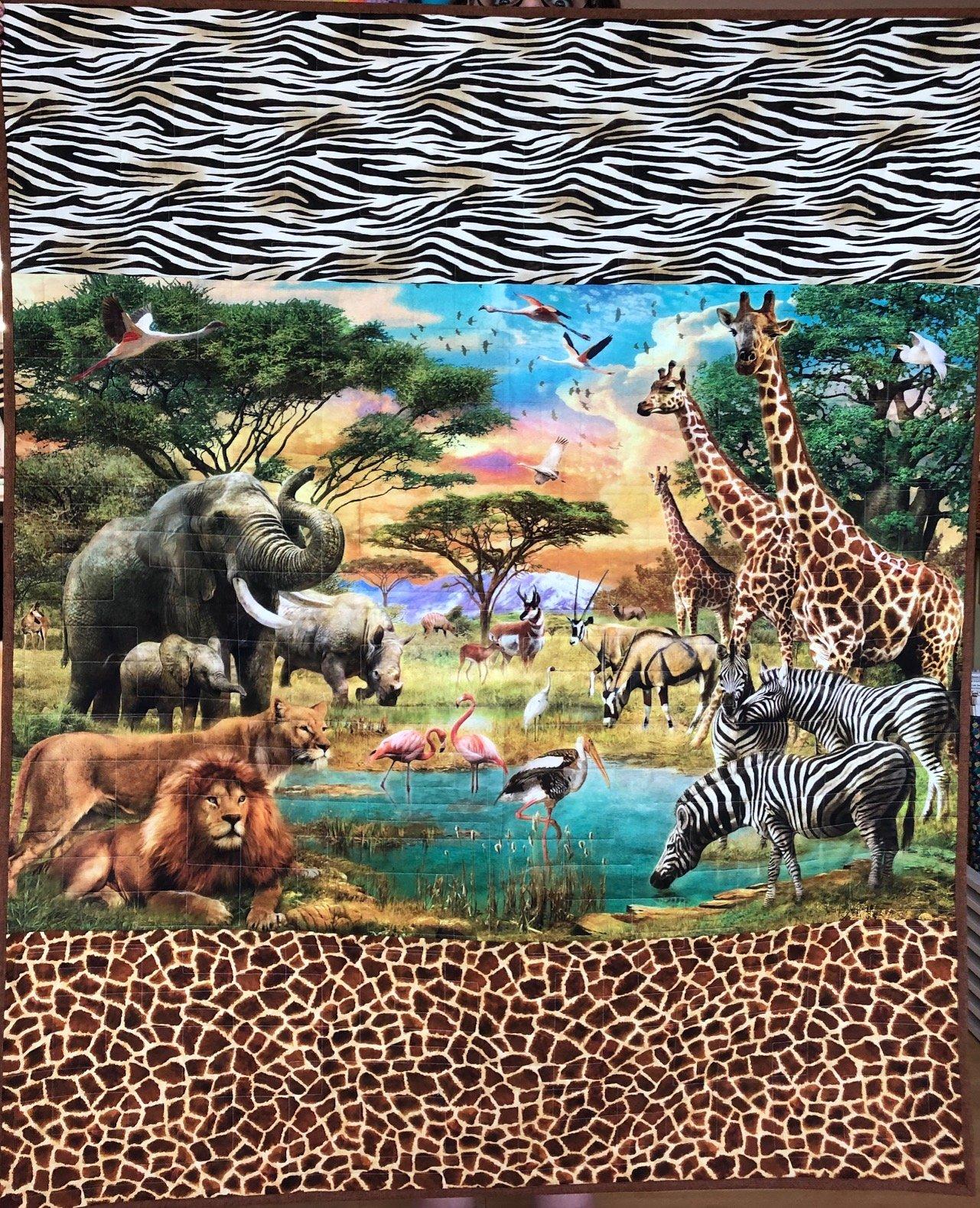 Wild panel quilt kit