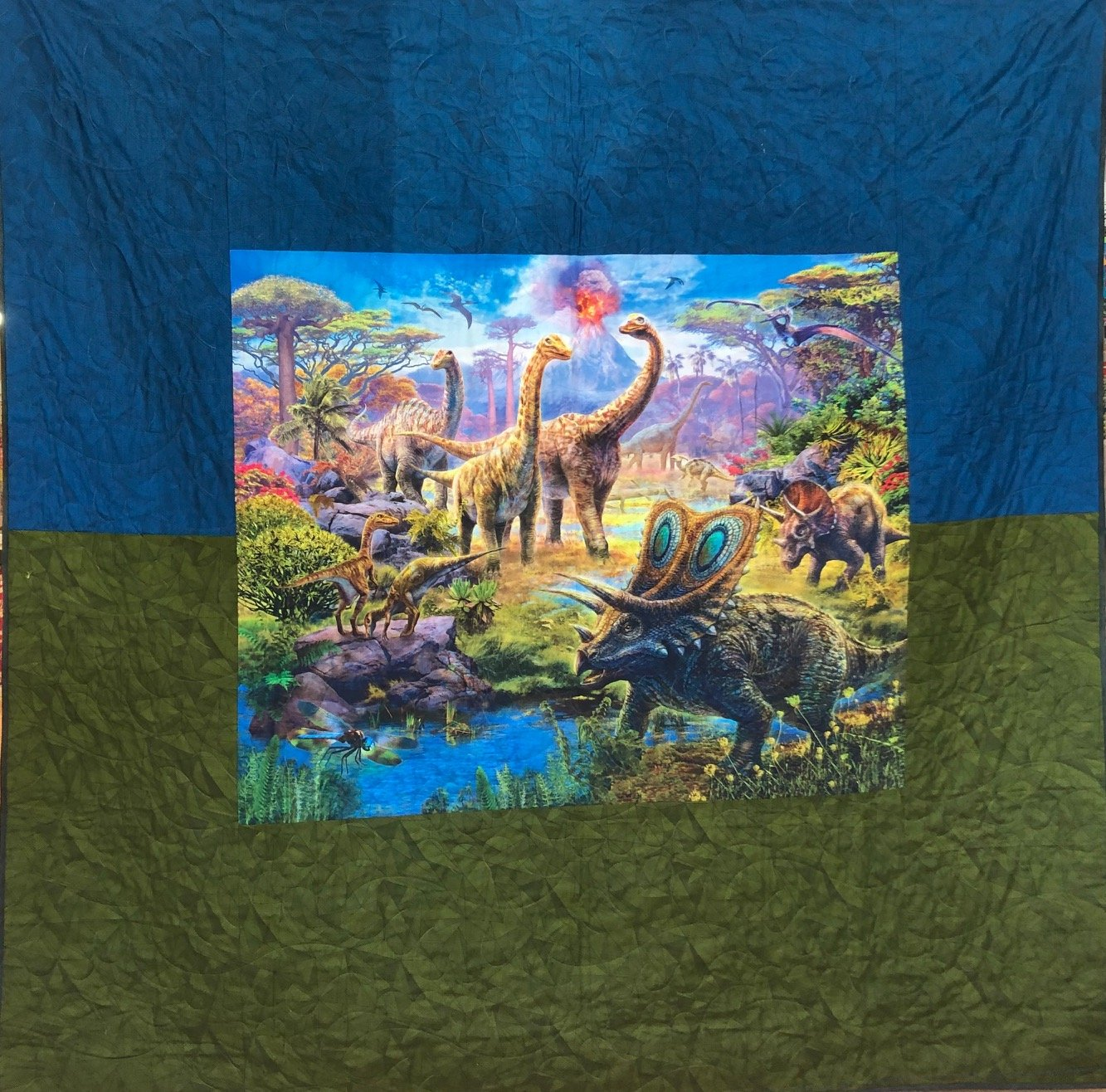 Backing kit for Disappearing Dinos quilt