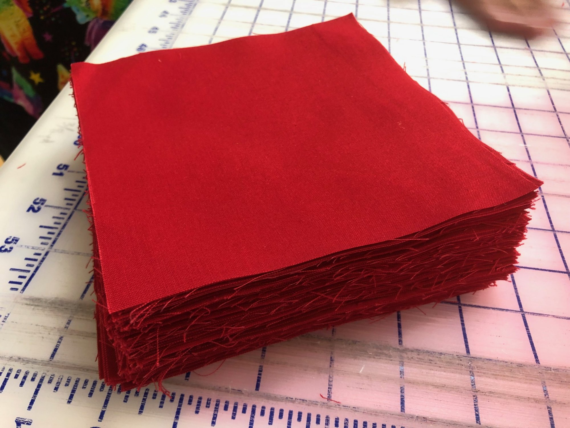 119 red solid 6 squares