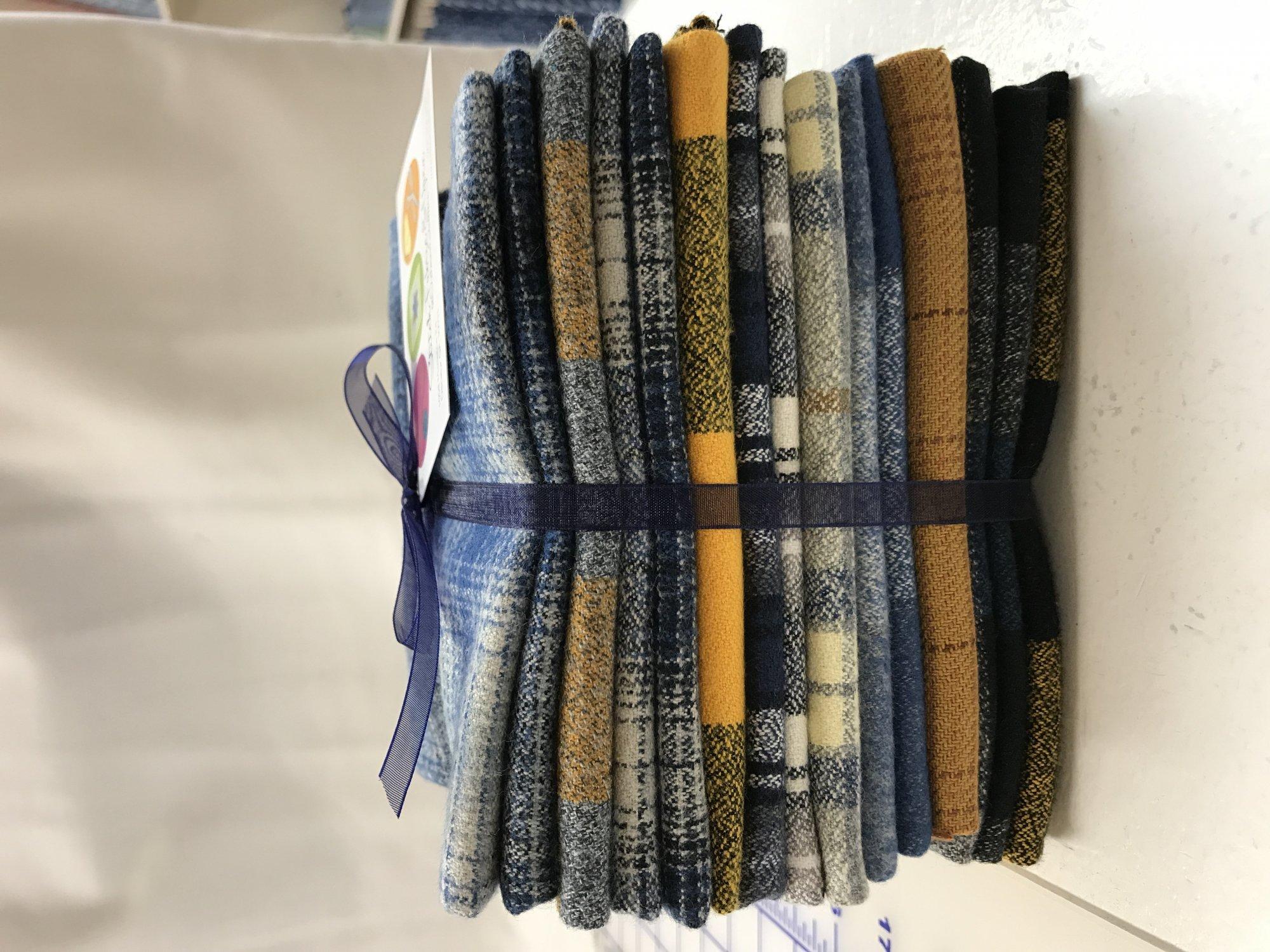 Yellow/Blue Plaid Flannel Bundle 10 FQ