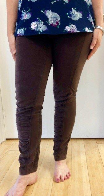 Dark Rosin Oslo Cord Leggings by Wearables by XCVI