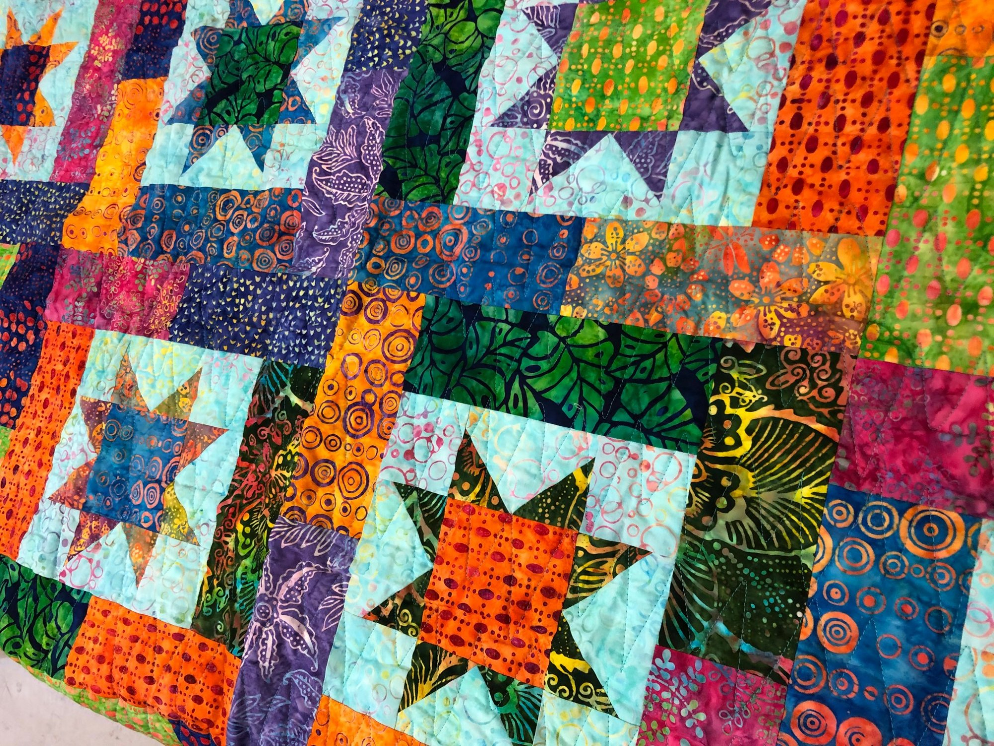 Batik 12 fat quarter bundle for Lucky Stars
