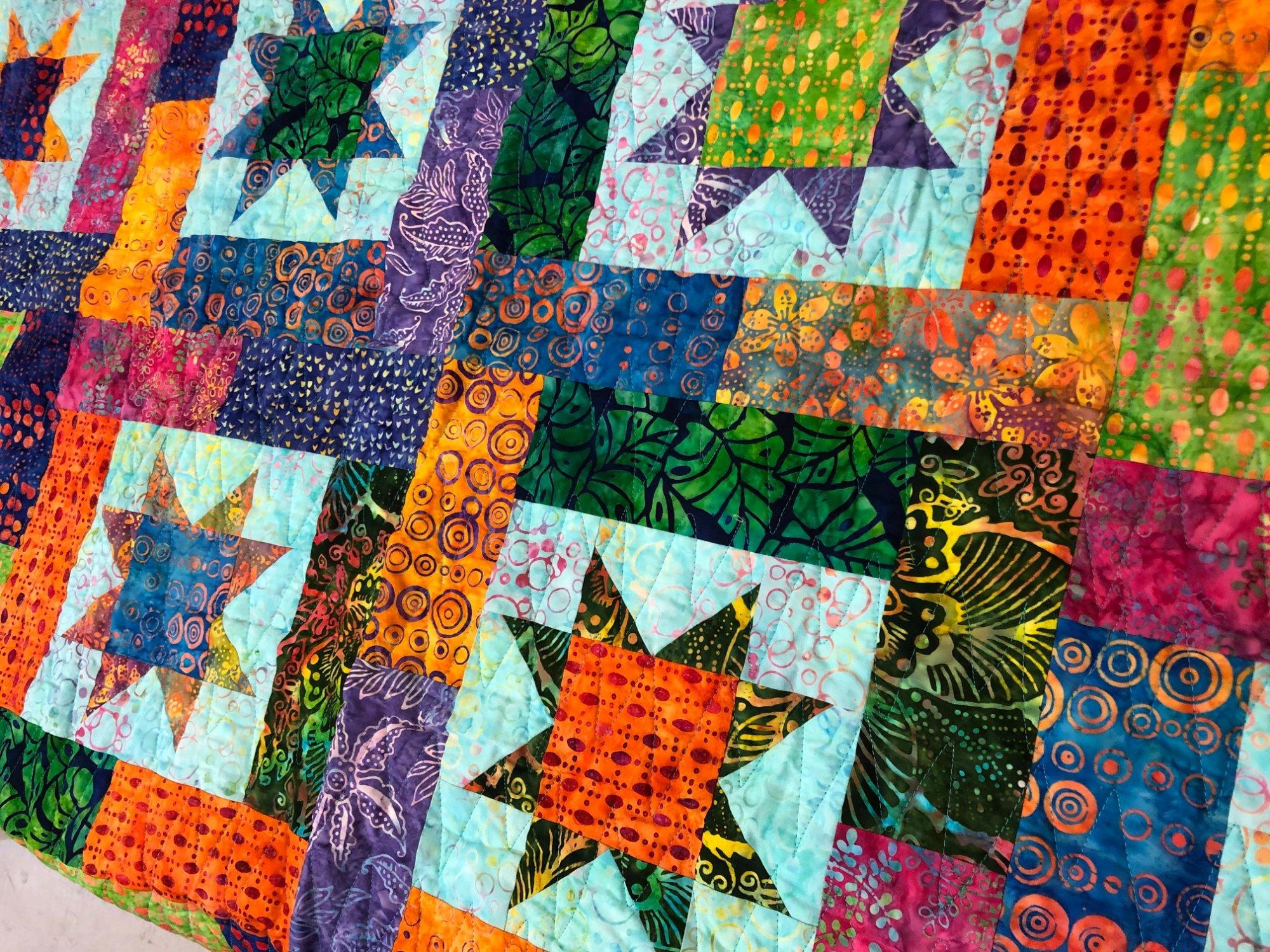 Batik Lucky Stars quilt kit