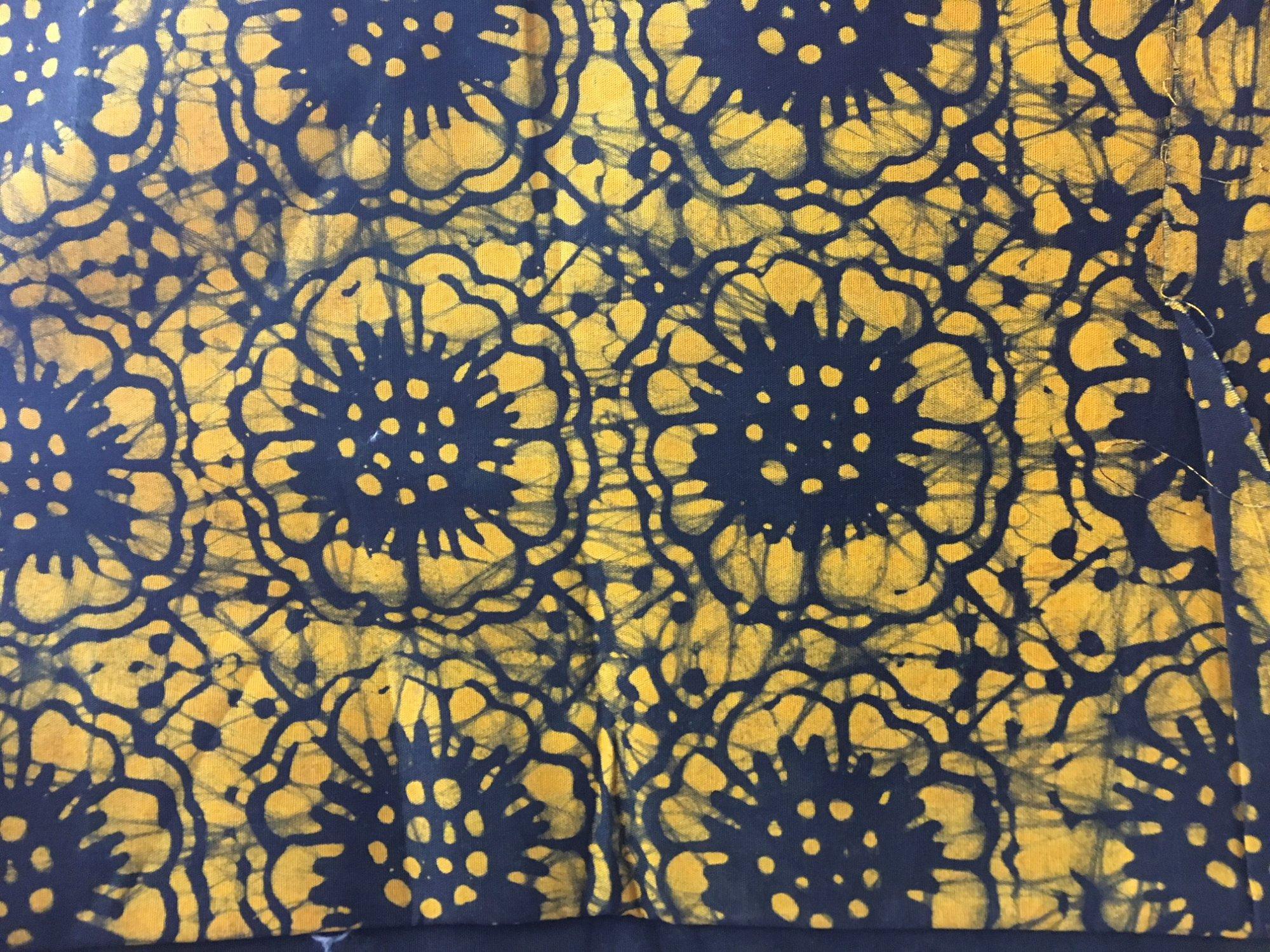Yellow floral batik R-8