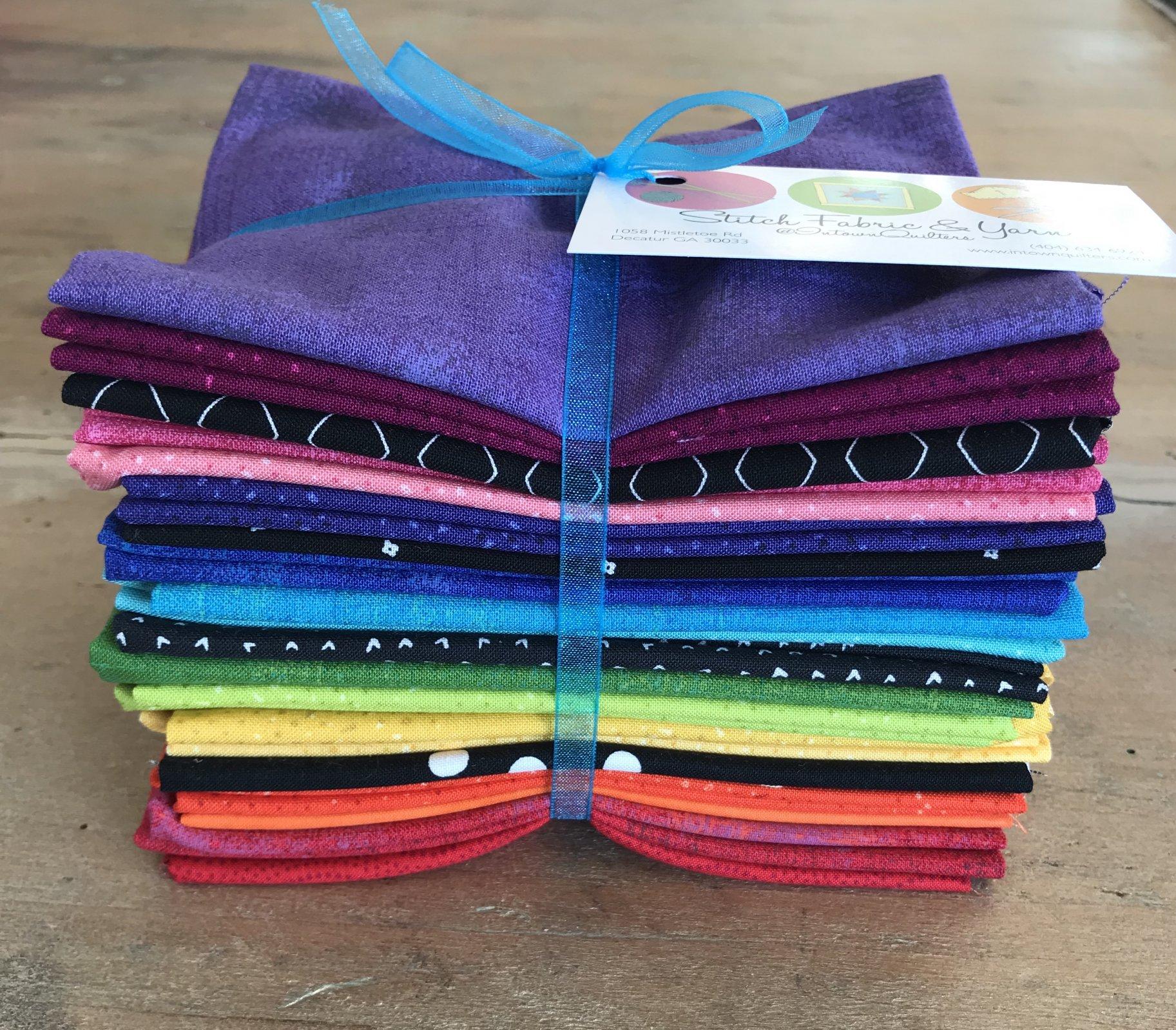 Rainbow Wedges 20 fat quarter bundle