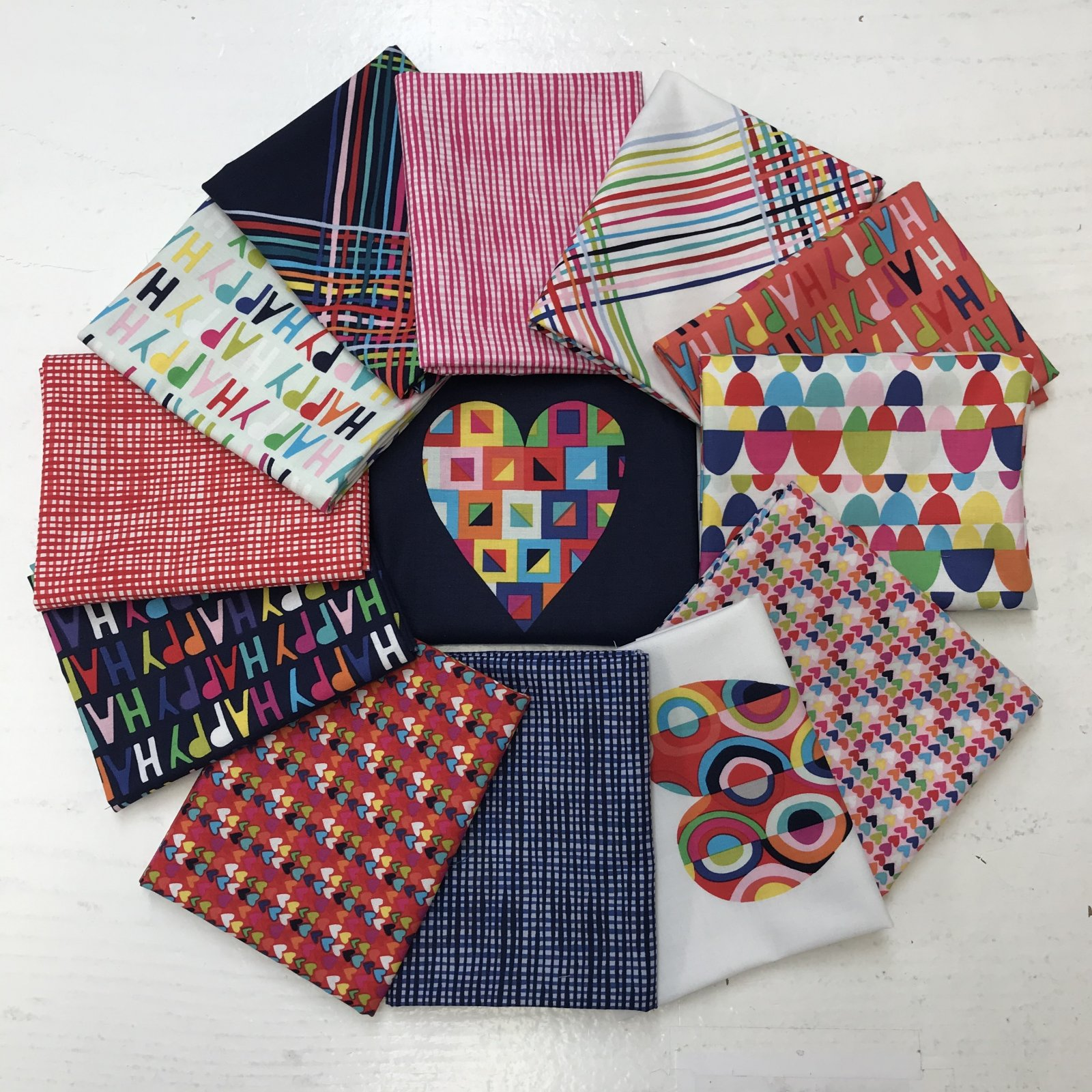 Happy Framed 14 fat quarter bundle