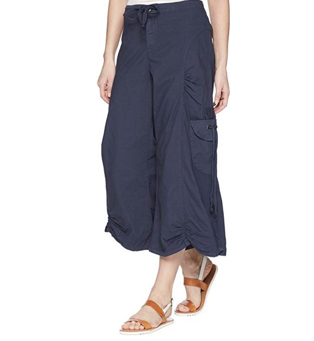 ccad2c8921a9 Prime Blue Cargo Gaucho Crop by Wearables by XCVI