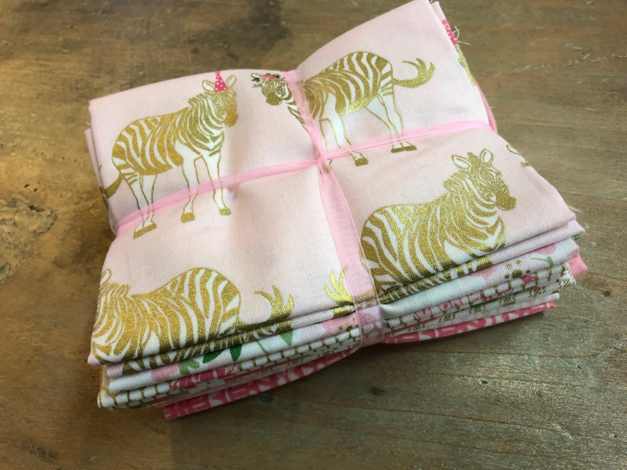 Pink Zebra 9 fat quarter bundle