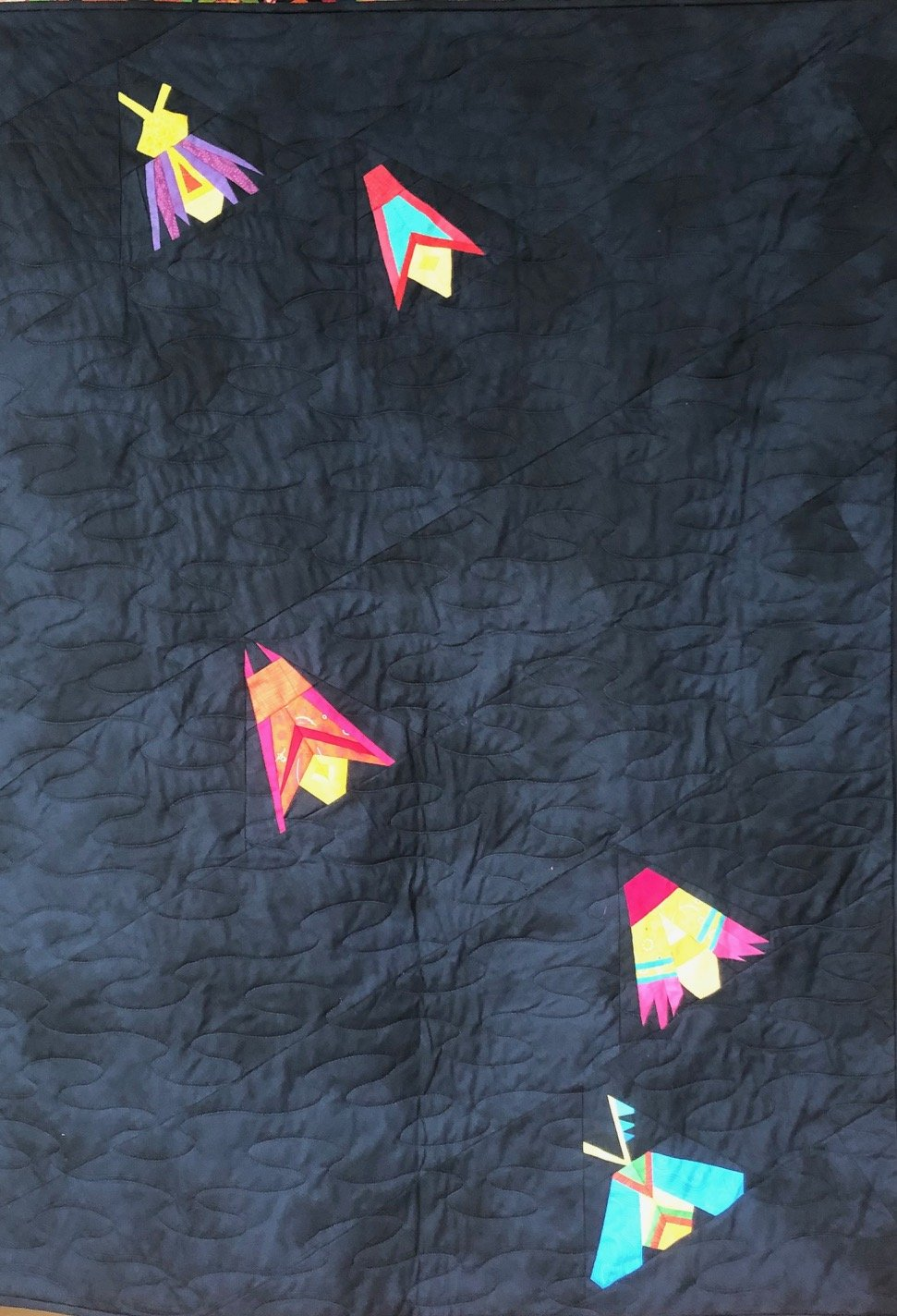 Firefly quilt kit -- foundation paper piecing