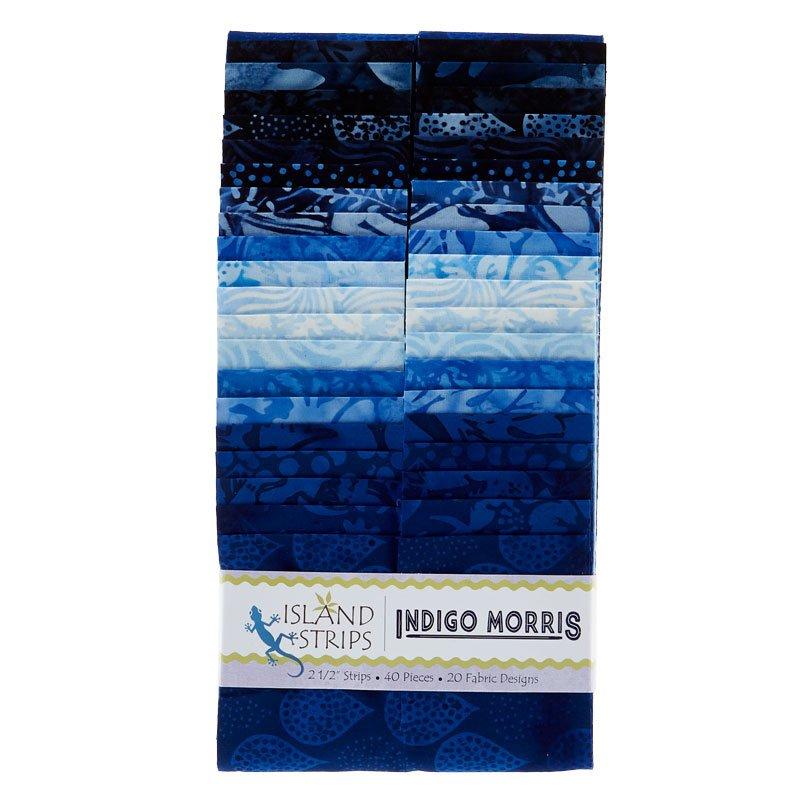 Indigo Morris 2.5 Strip Pack by Island Batik