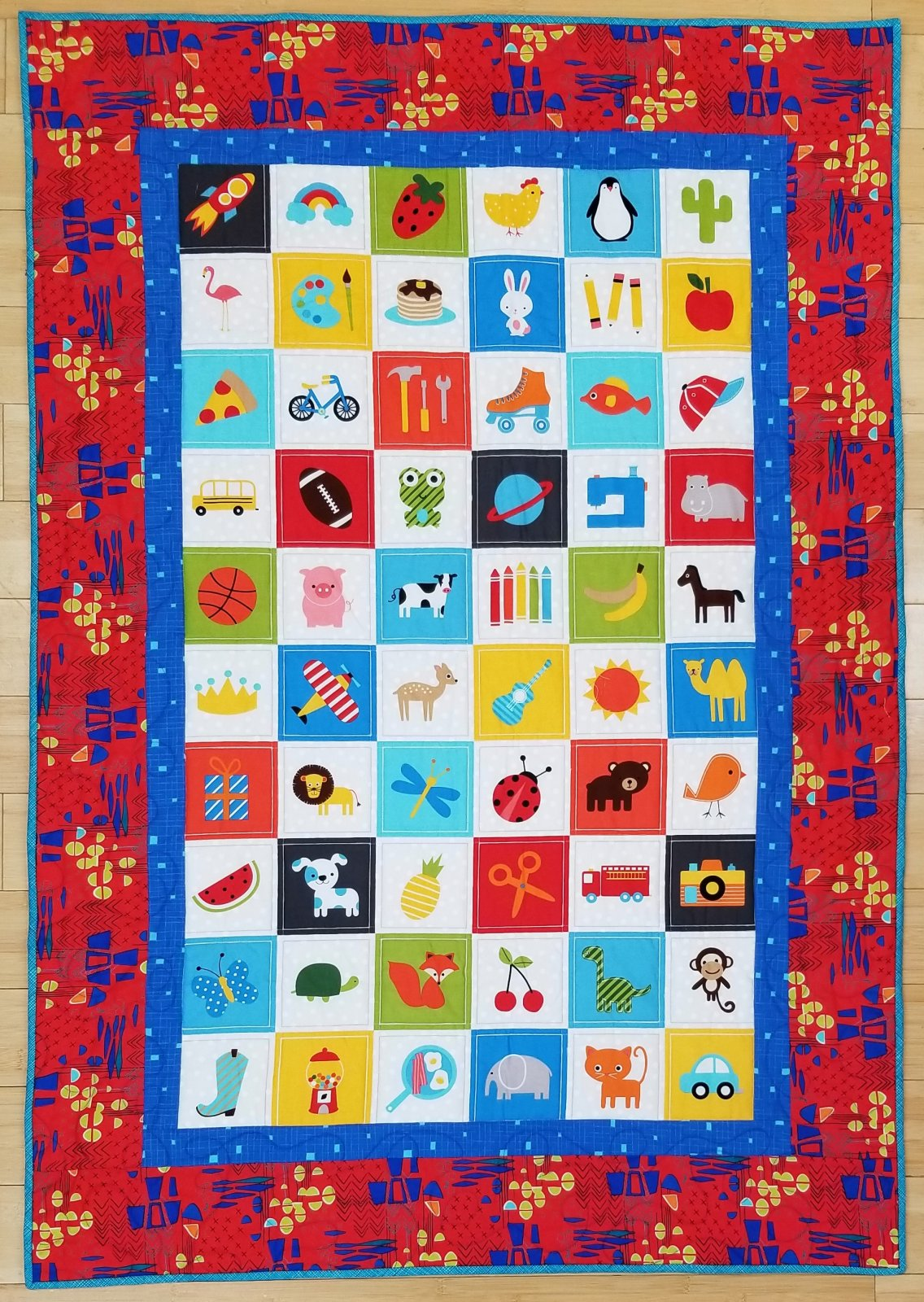 I Spy Bright panel quilt kit