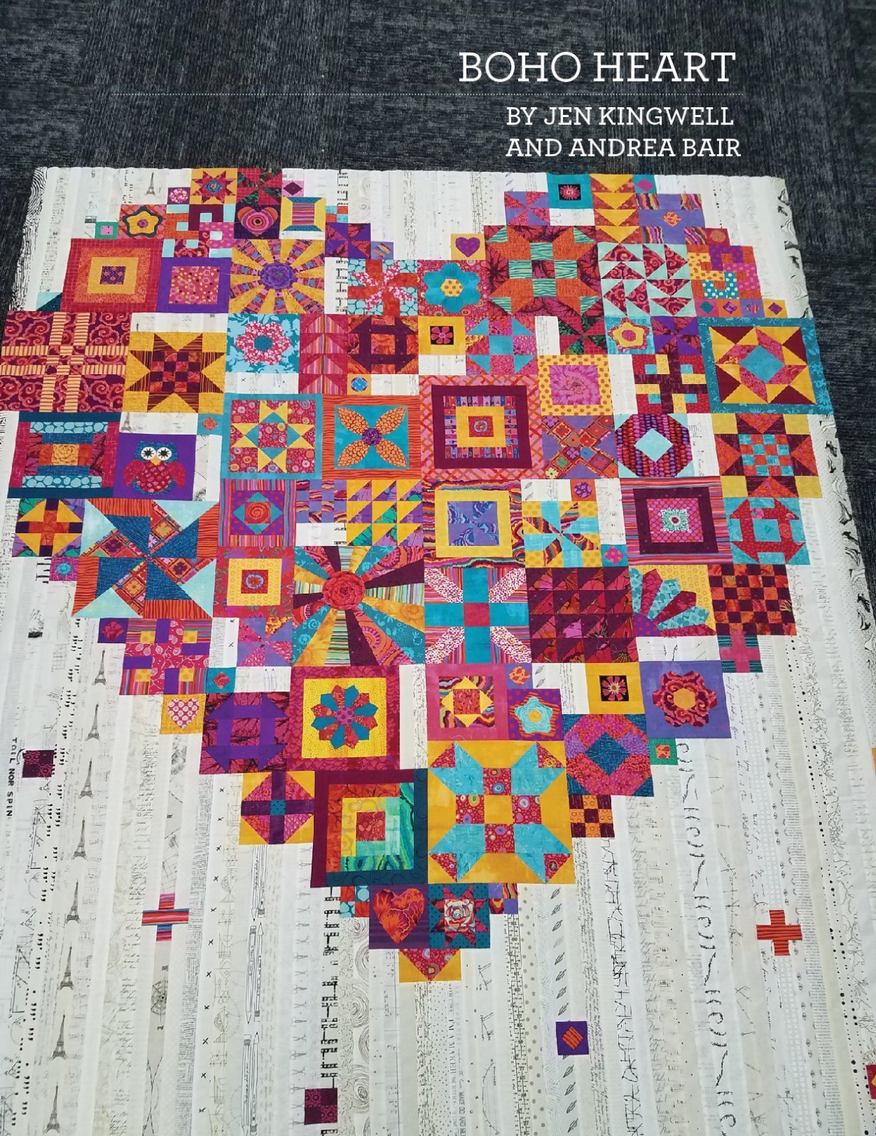 Boho Heart pattern booklet by Jen Kingwell and Andrea Bair Pre-order