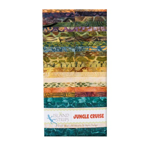 Jungle Cruise 2.5 Strip Pack by Island Batik