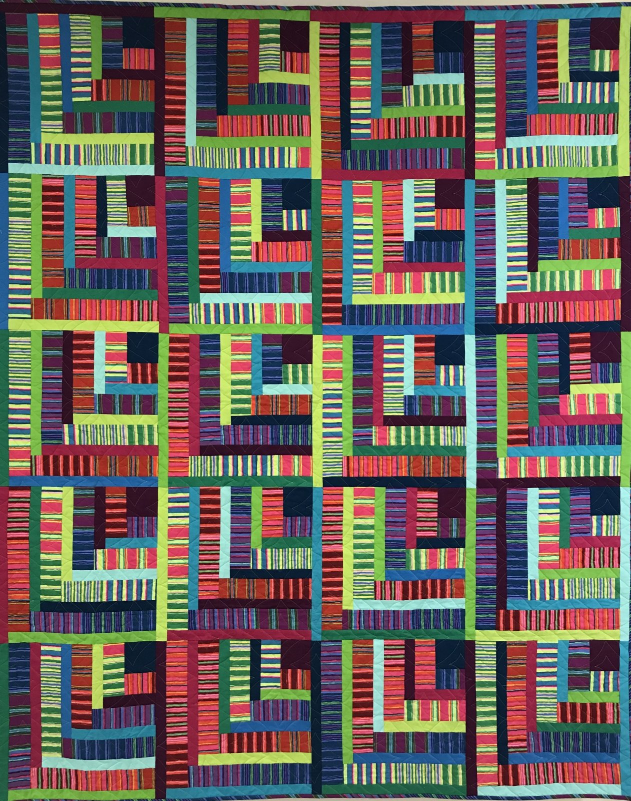 Kaffe Stripes Quilt pattern