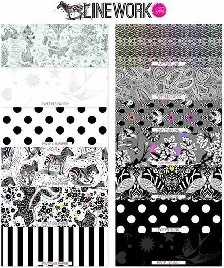 Linework 1 Yard Bundle by Tula Pink  PREORDER