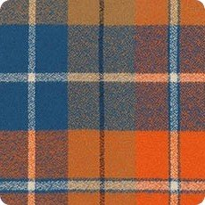 Adventure blue/orange plaid flannel SRKF-16430-267 Mammoth Flannel