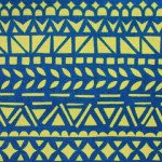Mosaic Blue cotton/linen canvas 1/2-yard minimum