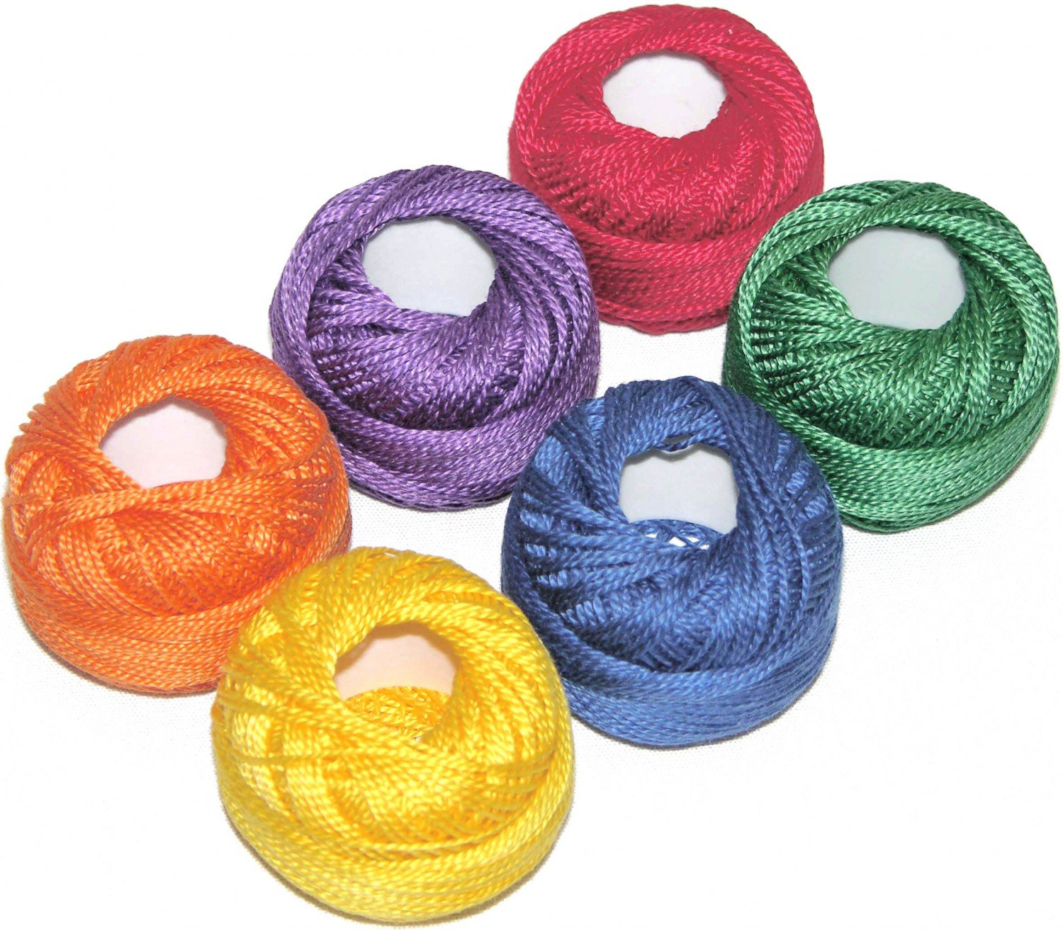 Pearl Cotton Size 8 Thread Sampler Pack Crayon