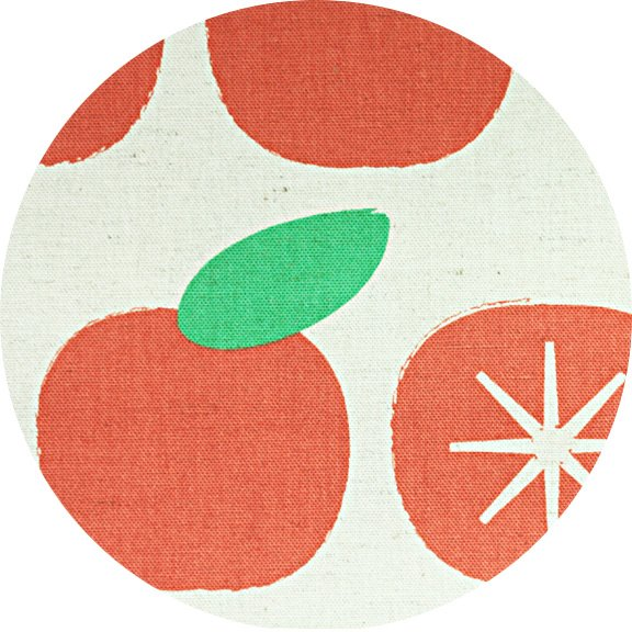 Persimmons in Orange - linen