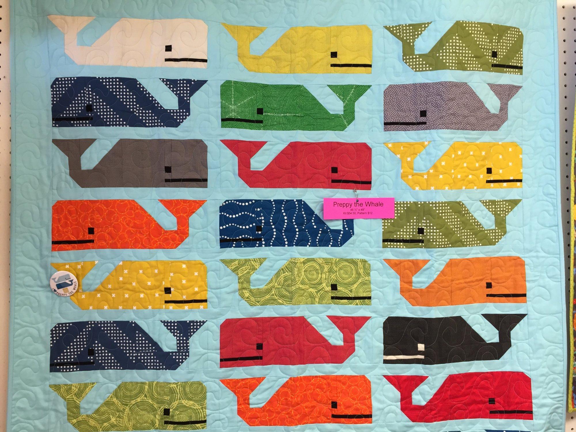 Preppy The Whale Quilt Kit 47x50
