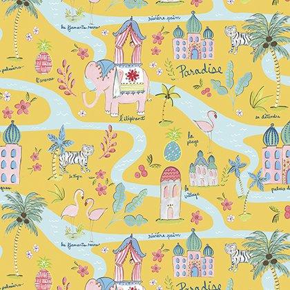 Map in  Mustard PWDF266.MUSTA Haute Zahara by Dena Designs