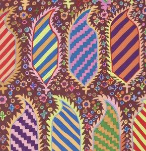 Striped Heraldic Maroon Kaffe Fassett