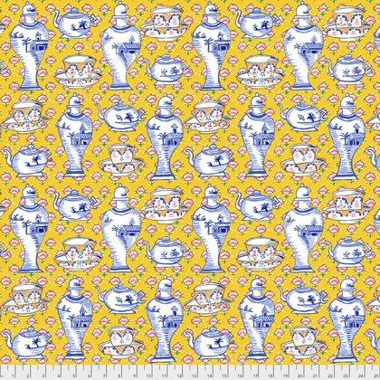 Yellow Delft Pots PWGP165.YELLO Kaffe Fassett Fall 2017
