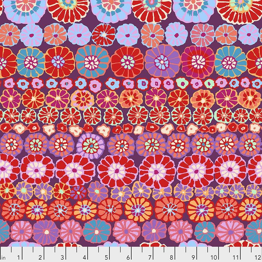 Red Row Flowers PWGP169.REDXX Kaffe Fassett Collective Fall 2018