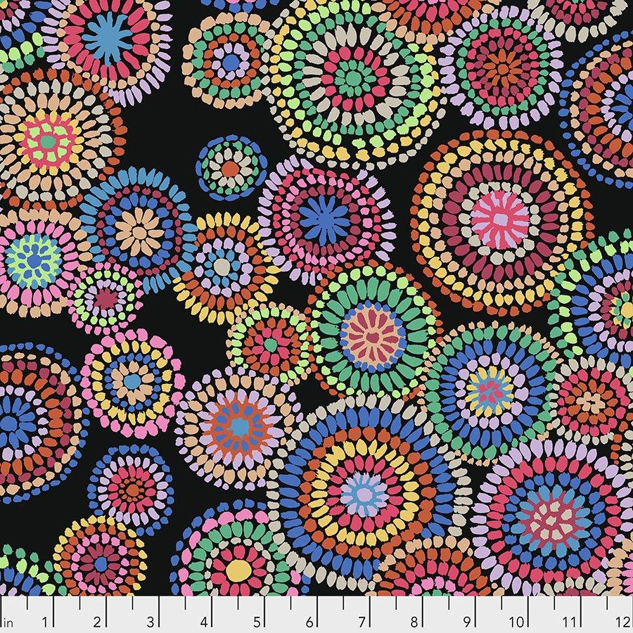 Black Mosaic Circles PWGP176.BLACK Kaffe Fassett
