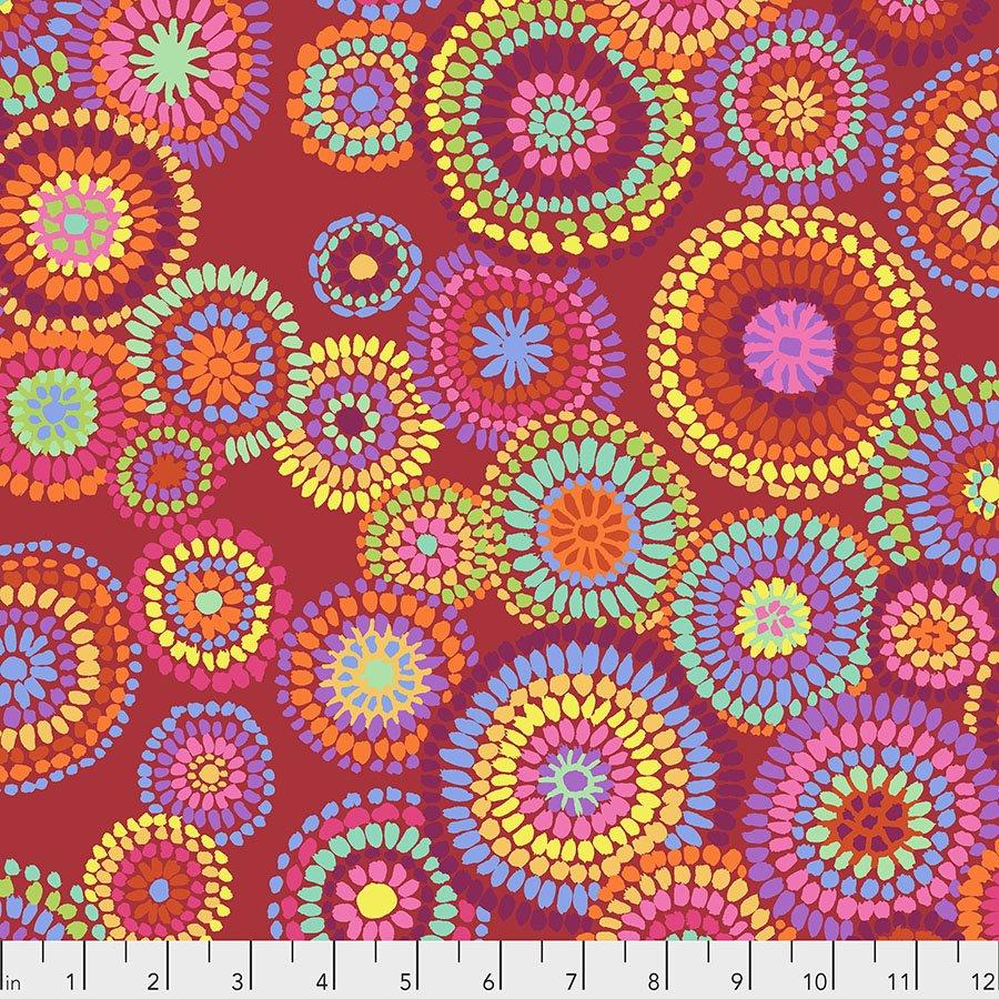 Red Mosaic Circles PWGP176.RED Kaffe Fassett