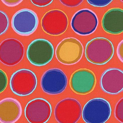 Kaffe Fassett Artisan Paint Pots Red print