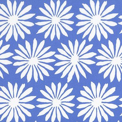 Kaffe Fassett Artisan Gerbera Blue print