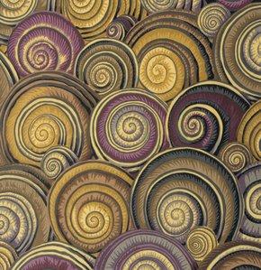 Spiral Shells Brown Philip Jacobs Kaffe Fassett Collective
