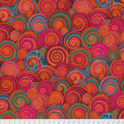 Orange Spiral Shells PWPJ073.ORANG Philip Jacobs Kaffe Fassett Collective Fall 2017