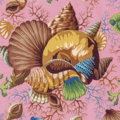 22 x WOF Shell Bouquet Brown Philip Jacobs Kaffe Fassett Collective