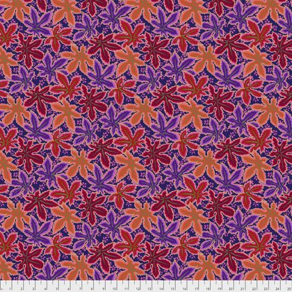 Red Lacy Leaf PWPJ093.REDXX Philip Jacobs Kaffe Fassett Collective Spring 2018